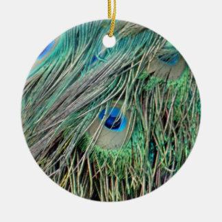Shaggy Peacock Eye Feathers Christmas Ornament