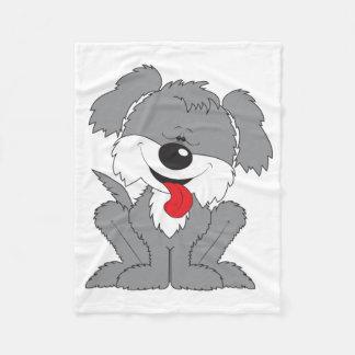Shaggy Puppy Cartoon Fleece Blanket