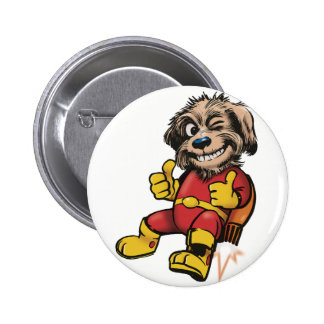Shaggy Space Dog 6 Cm Round Badge