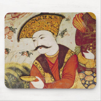 Shah Abbas I  and a Courtier offering Mouse Pad