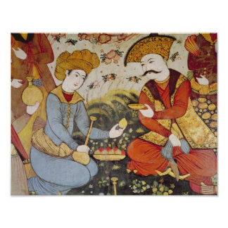 Shah Abbas I  and a Courtier Poster
