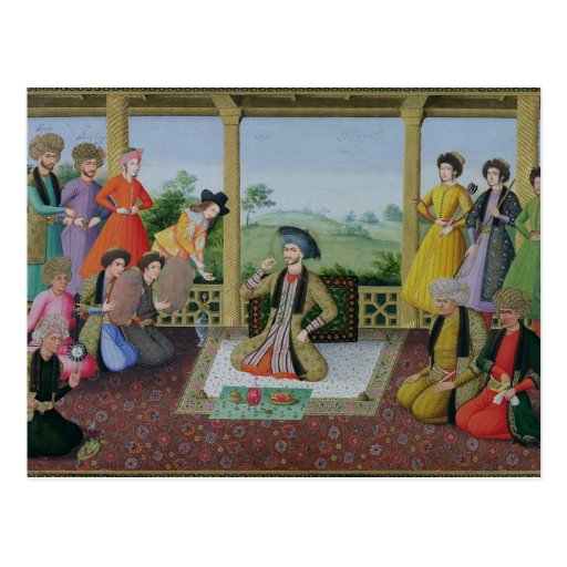 Shah Suleyman II  and his courtiers Post Card