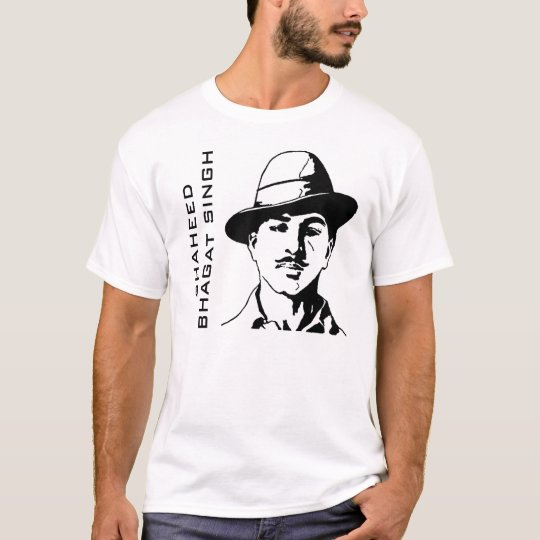 49df50e45 Shaheed Bhagat Singh Indian Freedom Fighter T-Shirt | Zazzle.co.uk