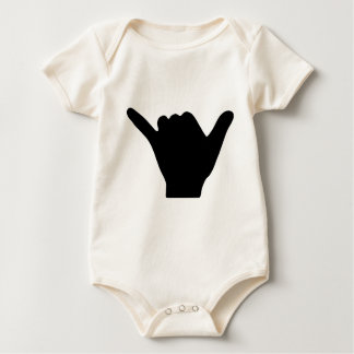 Shaka Hand Design Baby Bodysuit