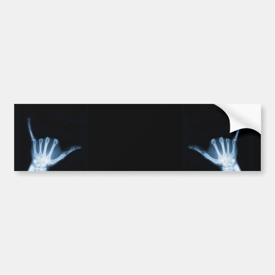 Shaka Sign X-Ray (Hang Loose) Bumper Sticker