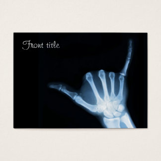 Shaka Sign X-Ray (Hang Loose) Business Card