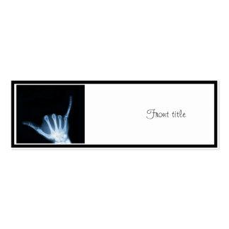 Shaka Sign X-Ray (Hang Loose) Business Cards