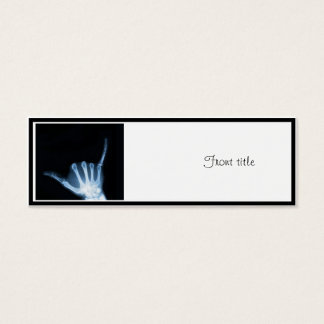 Shaka Sign X-Ray (Hang Loose) Mini Business Card