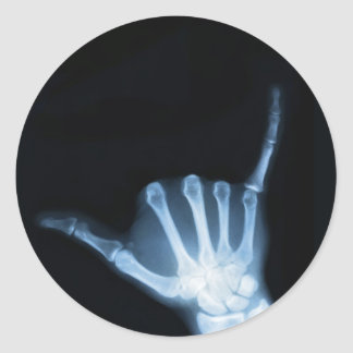Shaka Sign X-Ray (Hang Loose) Round Sticker