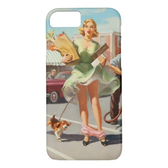 Shake down funny retro pinup girl iPhone 8/7