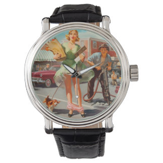 Shake down funny retro pinup girl watch