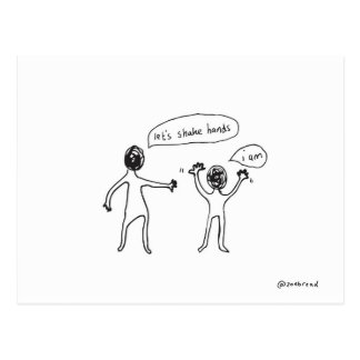 shake hands postcard