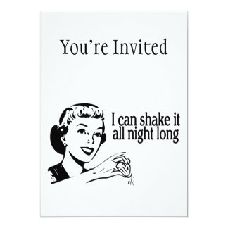 Shake It All Night Long Retro 13 Cm X 18 Cm Invitation Card