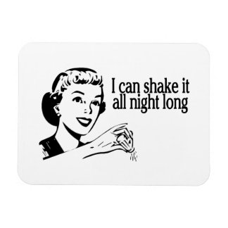 Shake It All Night Long Retro Rectangle Magnet