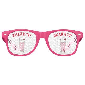 Shake It! Pink Strawberry Ice Cream Shop Milkshake Retro Sunglasses