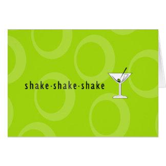 Shake Shake Shake Martini Greeting Card