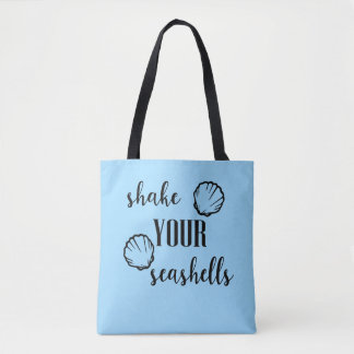 Shake Your Seashells Beach Wedding Tote Bag