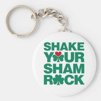 Shake Your Shamrock - Green Basic Round Button Key Ring