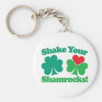 Shake Your Shamrocks Basic Round Button Key Ring