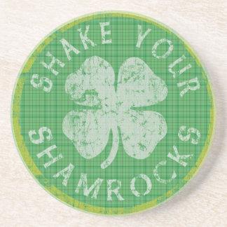 Shake Your Shamrocks Irish Coaster
