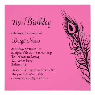 Shake Your Tail Feathers Birthday Invite (fuchsia)