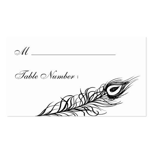 Shake your Tail Feathers Place Card (black) Business Card Templates