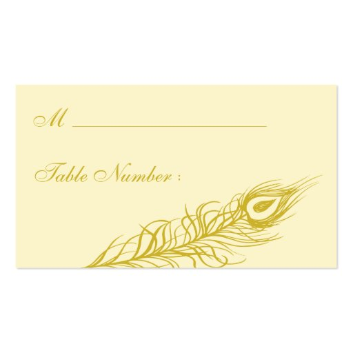 Shake your Tail Feathers Place Card (brown) Business Card Templates