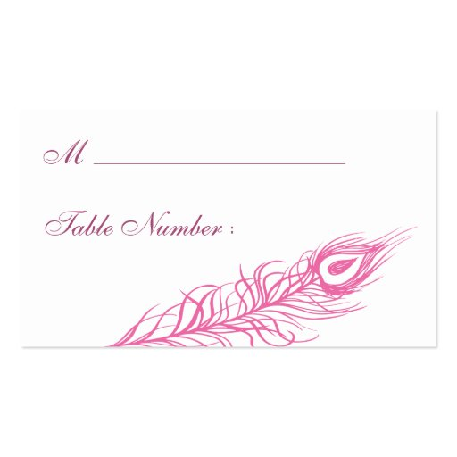 Shake your Tail Feathers Place Card (fuchsia) Business Card Templates