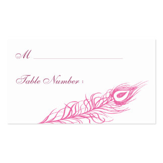 Shake your Tail Feathers Place Card (fuchsia) Pack Of Standard Business Cards