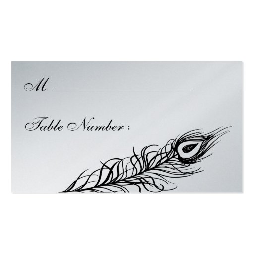 Shake your Tail Feathers Place Card (silver) Business Cards
