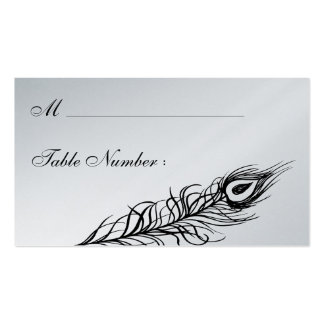 Shake your Tail Feathers Place Card (silver) Pack Of Standard Business Cards