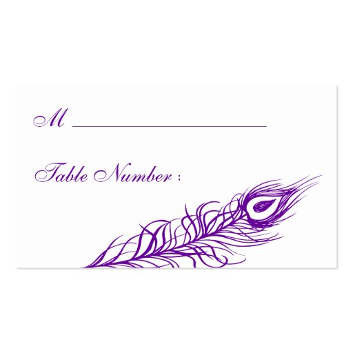 Shake your Tail Feathers Place Card (violet) Business Card Template