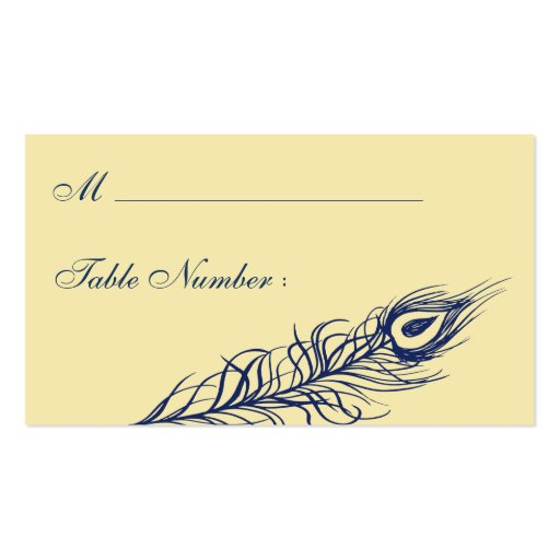 Shake your Tail Feathers Place Card (yellow) Business Cards