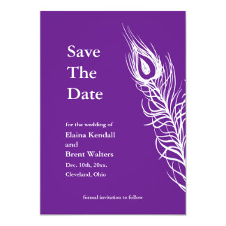 Shake your Tail Feathers Save the Date violet Card