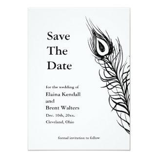 Shake your Tail Feathers Save the Date white 13 Cm X 18 Cm Invitation Card