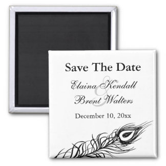 Shake your Tail Feathers Save the Date (white) Fridge Magnet