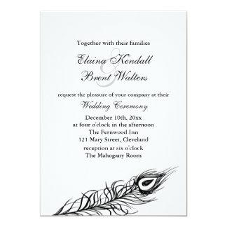 Shake your Tail Feathers Wedding Invitation white