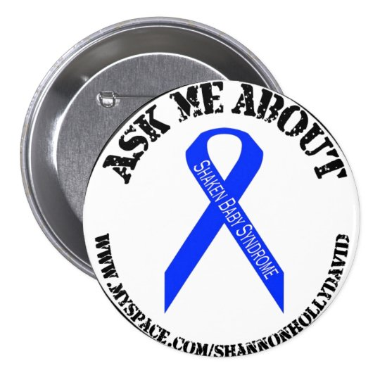shaken Baby Syndrome Awareness 7.5 Cm Round Badge