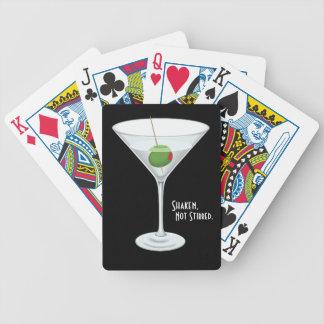 Shaken Not Stirred Vodka Martini Glass Cocktail Poker Deck