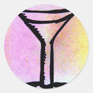 Shaken or stirred...Mine are preferred. Round Sticker
