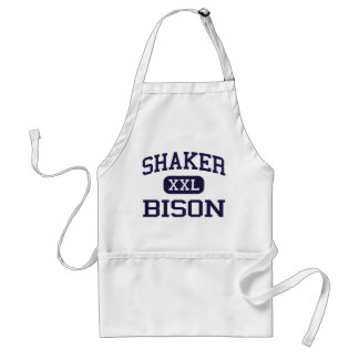shaker - Bison - high school - Latham New York Adult Apron