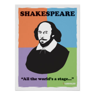 "Shakespeare 18"" x 24"" Colorful Classroom Poster"