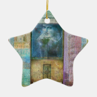 Shakespeare art customize with  favorite quotation christmas ornament