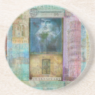 Shakespeare art customize with  favorite quotation coasters