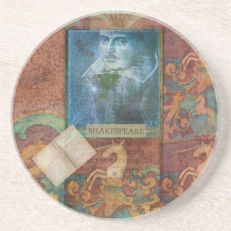 Shakespeare art customize with favorite quotation coaster