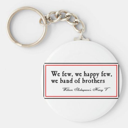 Shakespeare: Band of Brothers Keychain