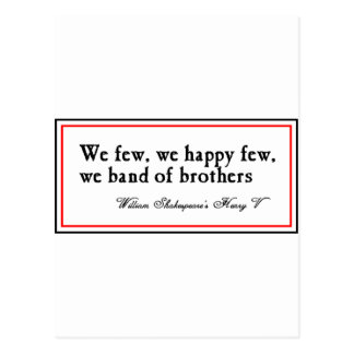 Shakespeare: Band of Brothers Postcard