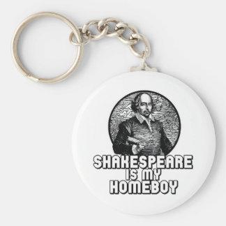 Shakespeare Basic Round Button Key Ring