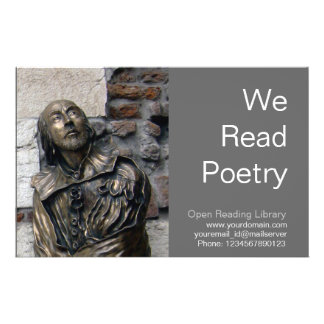 Shakespeare Bust of Verona Custom Flyer