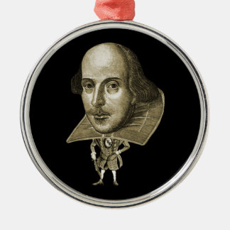 Shakespeare Caricature Christmas Ornament